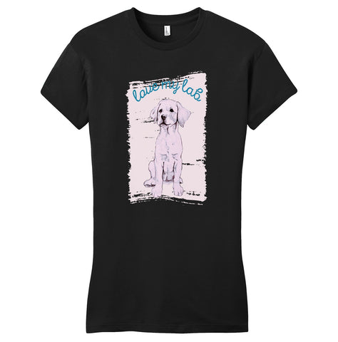 Love My Lab Cutout - Women's Fitted T-Shirt
