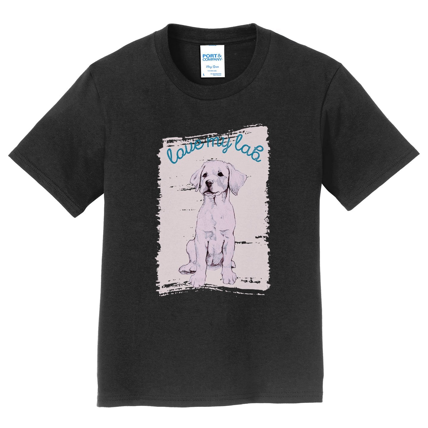Love My Lab Cutout - Kids' Unisex T-Shirt