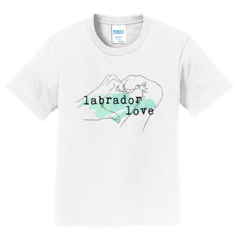 Paw Hand & Heart - Green Accent - Kids' Unisex T-Shirt