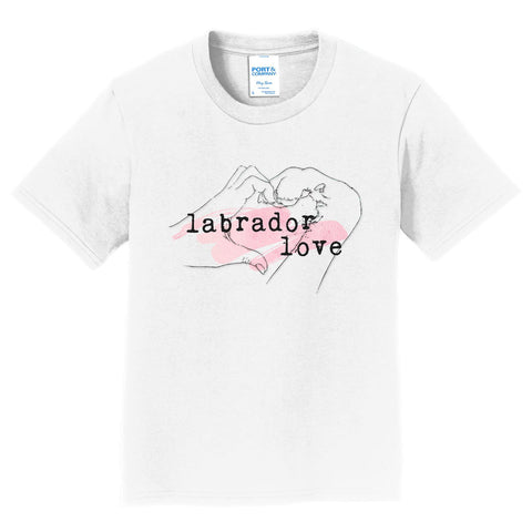 Paw Hand & Heart - Pink Accent - Kids' Unisex T-Shirt