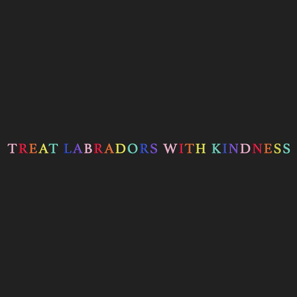 Treat Labradors With Kindness - Women's Fitted T-Shirt