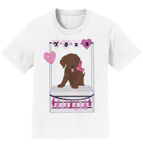 Kissing Booth Chocolate Lab - Kids' Unisex T-Shirt
