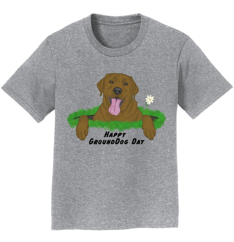 Chocolate Labrador Groundhog Day - Kids' Unisex T-Shirt