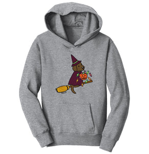Chocolate Lab Witch - Halloween - Kids' Hoodie Sweatshirt
