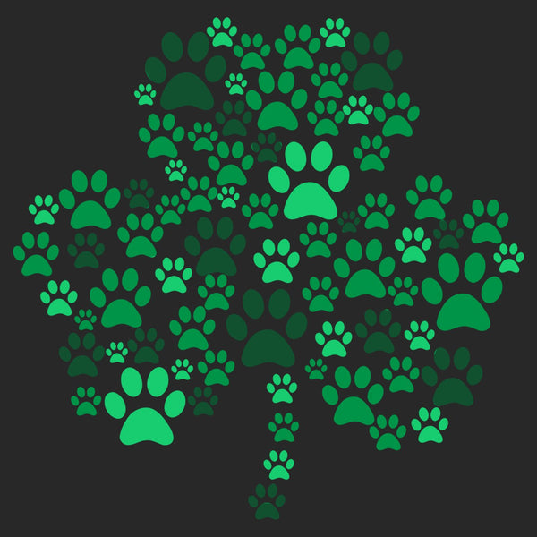 Green Lab Paw Shamrock - Adult Unisex T-Shirt