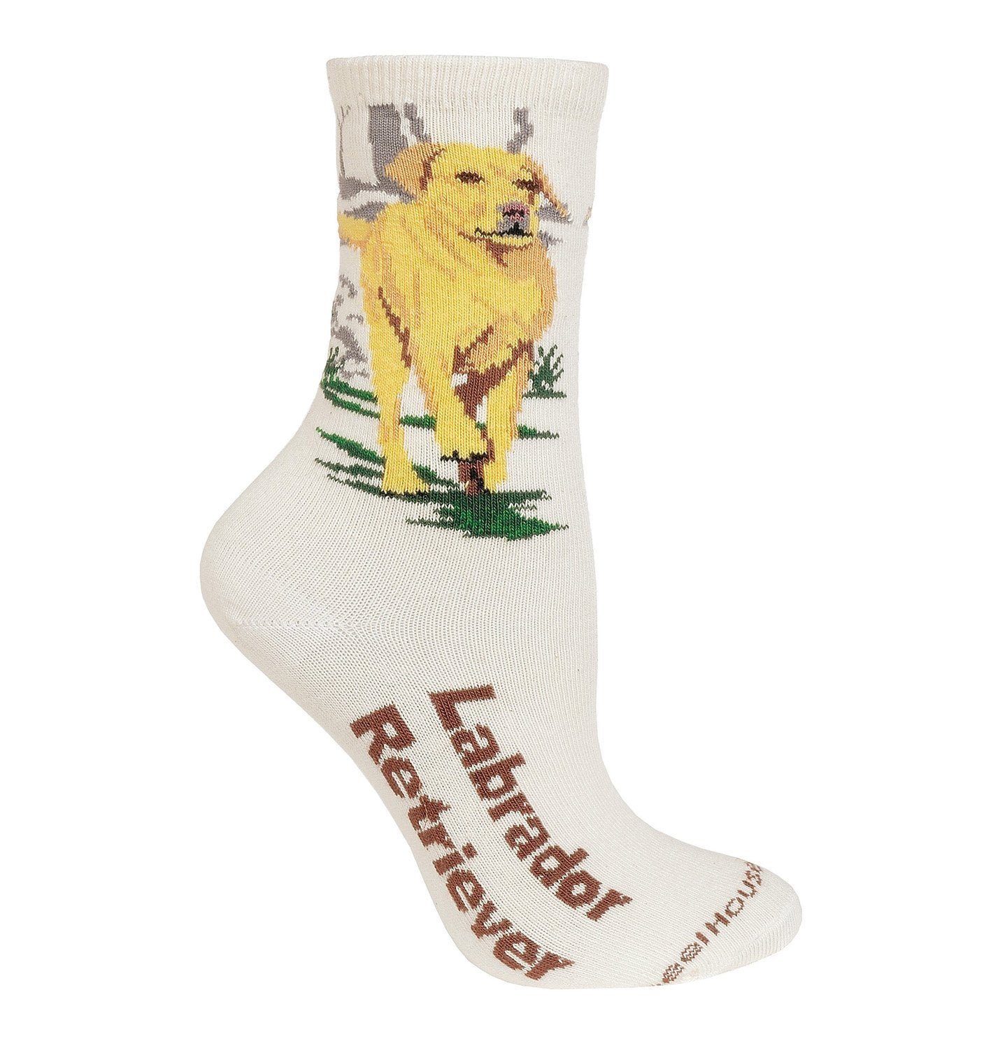 Yellow Lab - Cotton Crew Socks - Natural