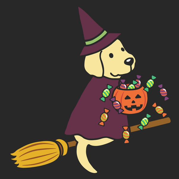 Yellow Lab Witch - Adult Unisex T-Shirt
