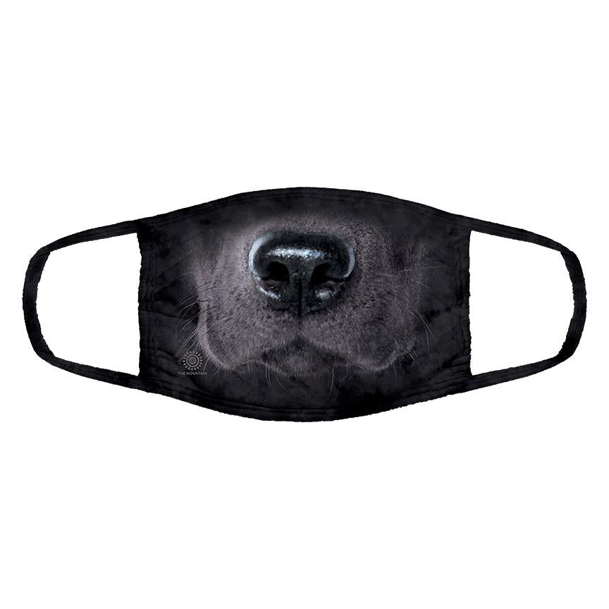 The Mountain - Black Lab Big 3D Face - Adult Unisex Face Mask