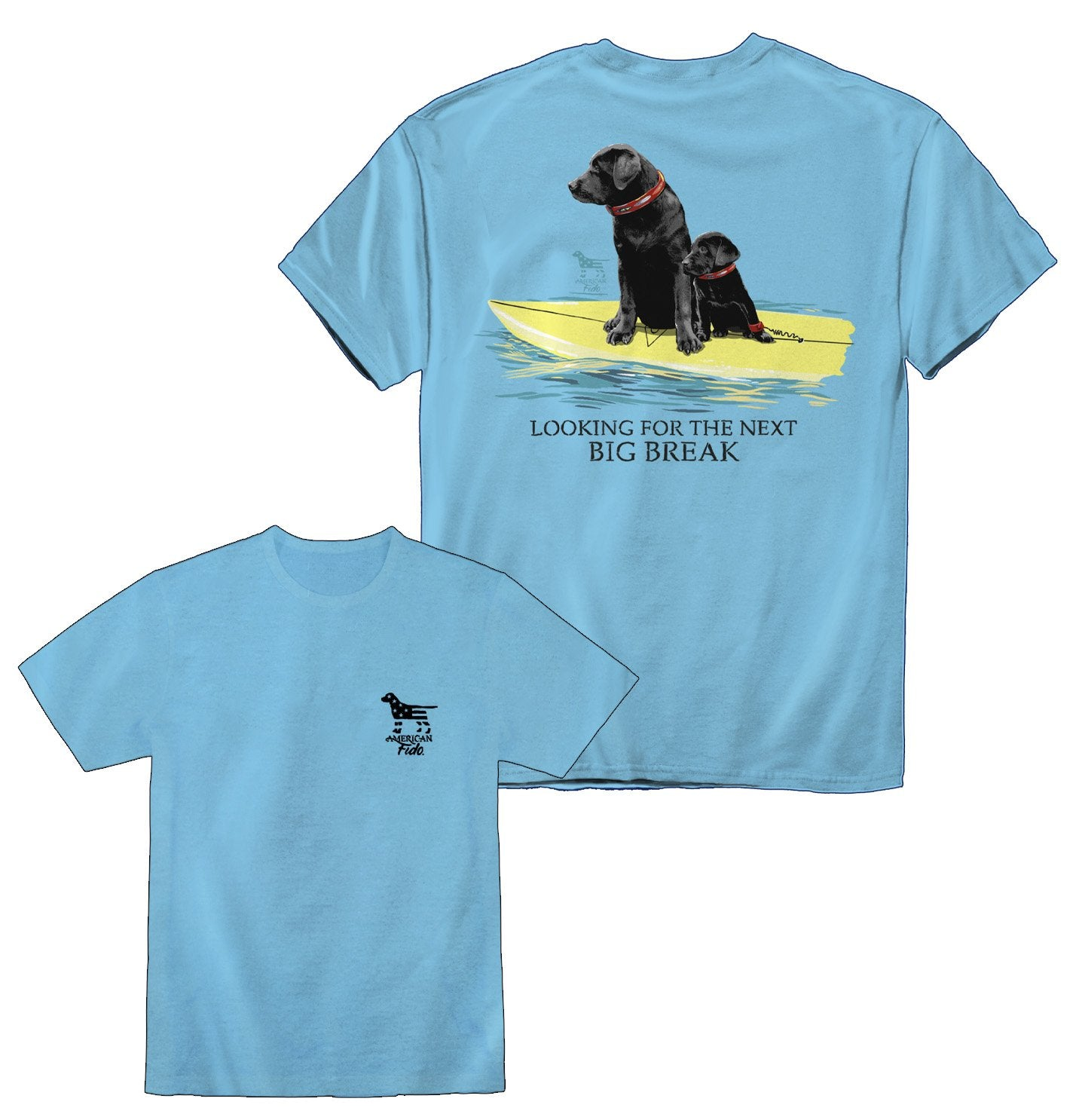 Surfing Black Labradors - Next Big Break Shirt | American Fido