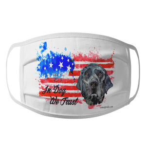 Watercolor Black Lab In Dog We Trust - Face Mask