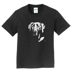 Lab Pop Art on Black - Kids' Unisex T-Shirt