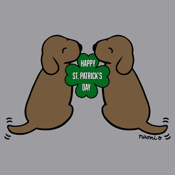 Happy St. Patrick's Day Chocolate Lab Puppies - Kids' Unisex T-Shirt