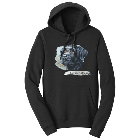 Black Lab Face Art - Adult Unisex Hoodie Sweatshirt