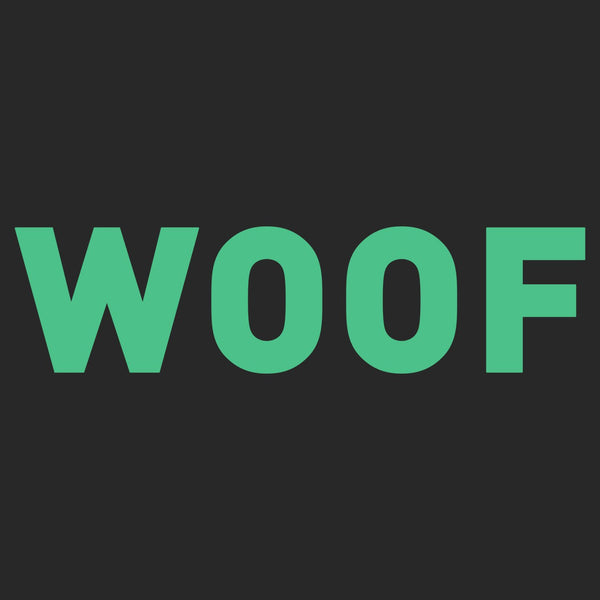 Woof Text - Adult Adjustable Face Mask