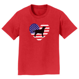 USA Flag Lab Silhouette - Kids' T-Shirt
