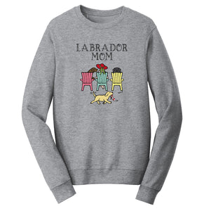 Labrador Dog Mom - Mother's Day Deck Chairs Design | Crewneck Sweatshirt