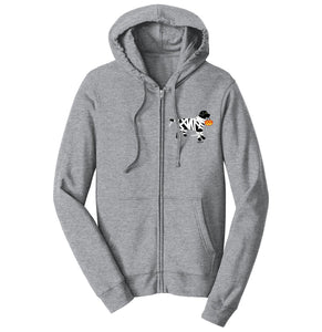Black Lab Mummy Left Chest - Halloween - Full-Zip Hoodie Sweatshirt