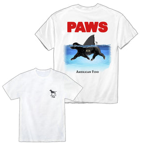 Paws Dog Shark - Black Lab Jaws Shirt | American Fido