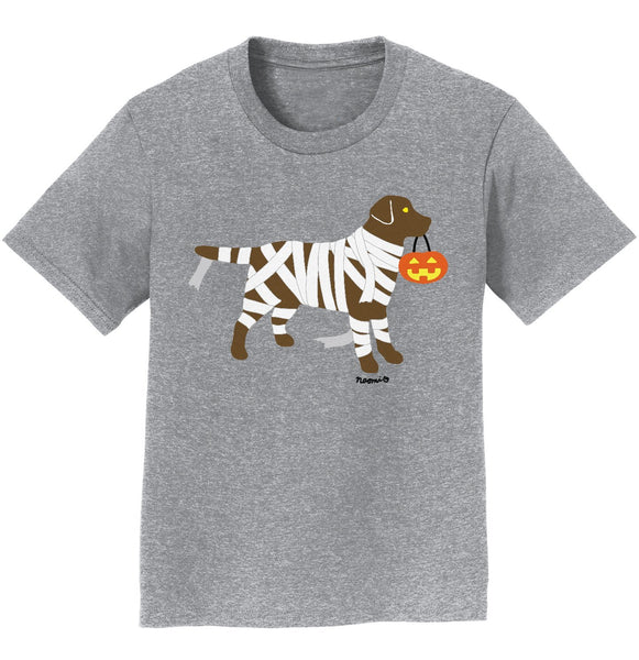 Chocolate Lab Mummy Trick or Treater - Kids' Unisex T-Shirt
