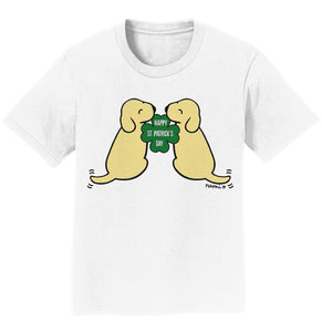 Happy St. Patrick's Day Yellow Lab Puppies - Kids' Unisex T-Shirt