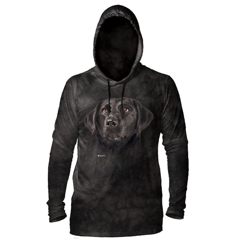 The Mountain - Soulful Black Lab - Lightweight Hoodie