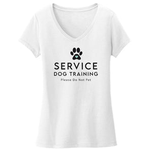Service Dog Training - Women's V-Neck T-Shirt