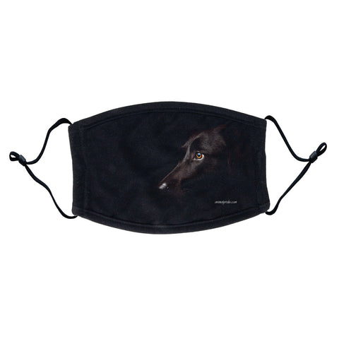 Black Lab Face Mask - Adjustable Ear Loops, Reusable & Washable, Cloth - Labradors.com