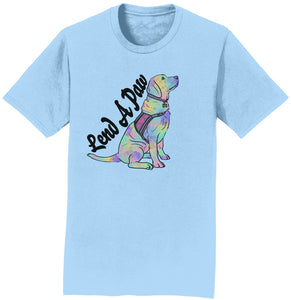 Animal Pride - Lend a Paw Labrador Retriever - Adult Unisex T-Shirt