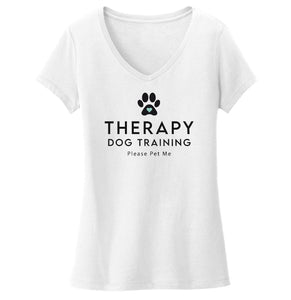 Therapy Dog Training - Women's V-Neck T-Shirt
