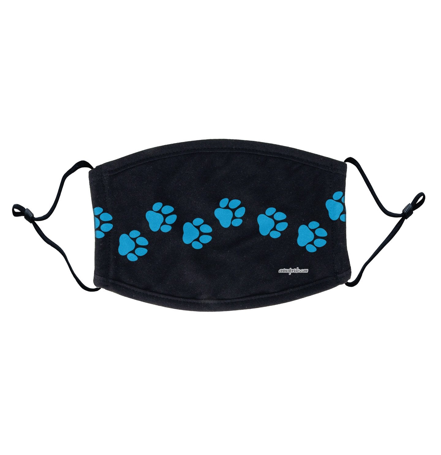Blue Paw Prints - Adjustable Face Mask, Breathable, Reusable, Printed in USA
