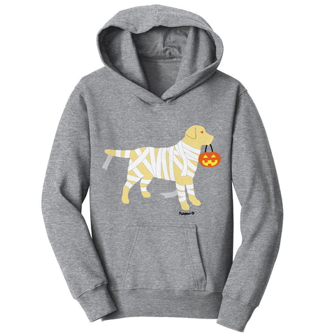 Yellow Lab Mummy Trick or Treater - Halloween - Kids' Hoodie Sweatshirt