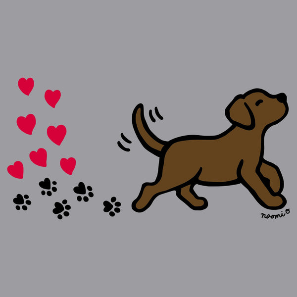 Chocolate Labrador Love Trail - Adult Unisex T-Shirt