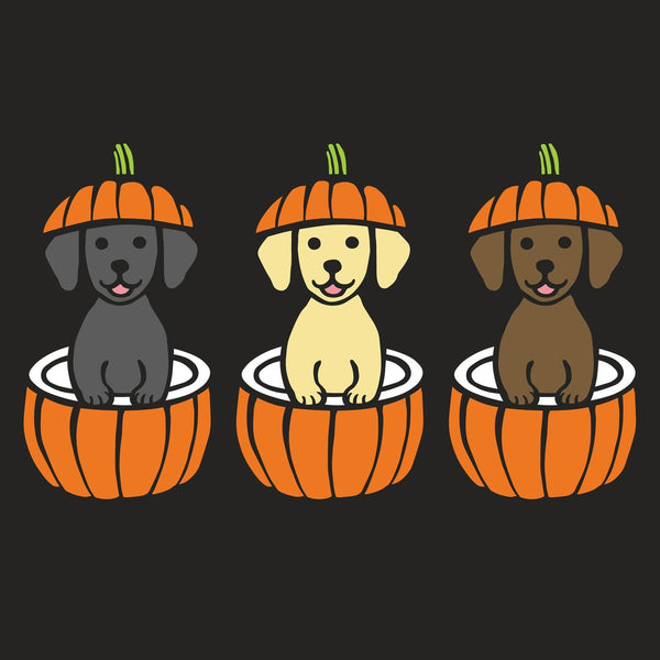 3 Pumpkin Lab Pups - Adult Tri-Blend T-Shirt