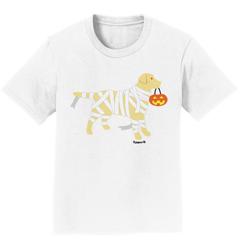 Yellow Lab Mummy Trick or Treater - Halloween - Kids' T-Shirt