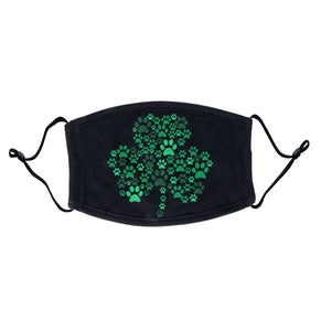 Green Lab Paw Shamrock - Adult Adjustable Face Mask