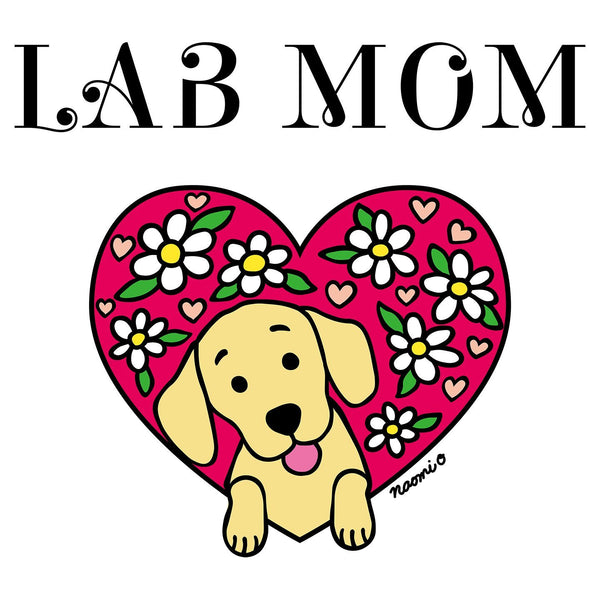 Flower Heart Yellow Lab Mom - Women's Tank Top