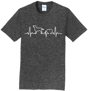 Labrador Heartbeat Monitor - Adult Unisex T-Shirt