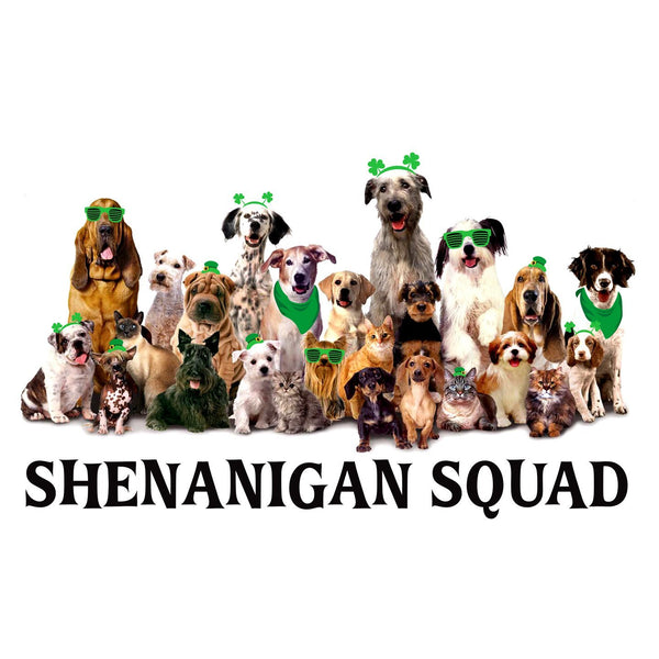 Shenanigan Squad - Dogs - Women's Fitted T-Shirt