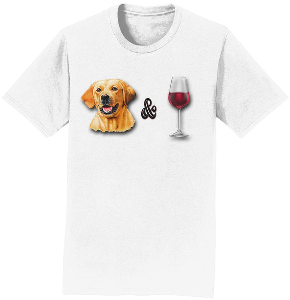 Yellow Lab and Wine - T-Shirt