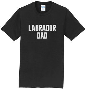 Labrador Dad - Block Font - Adult Unisex T-Shirt