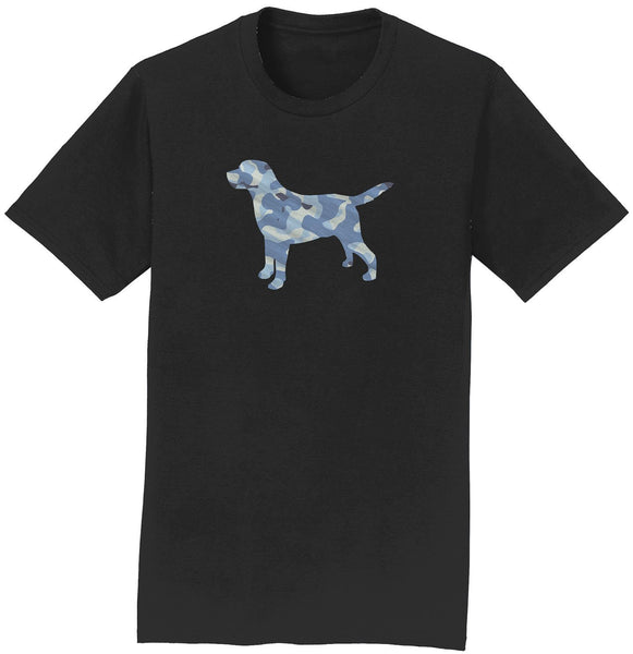 Blue Camouflage Silhouette - Adult Unisex T-Shirt