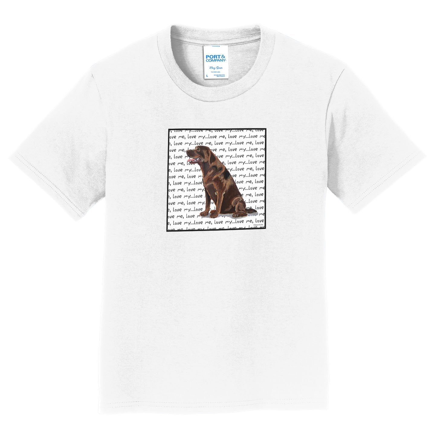 Chocolate Lab Love Text - Kids' Unisex T-Shirt