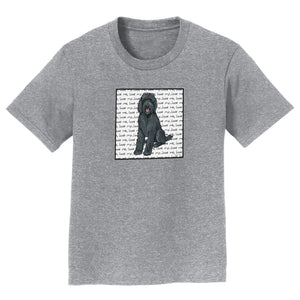 Black Labradoodle Love - Kids' Unisex T-Shirt