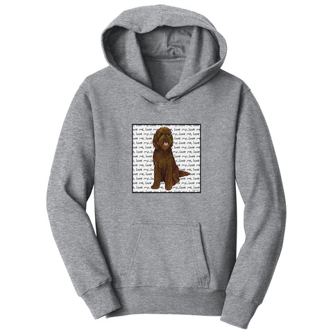 Chocolate Labradoodle Love - Kids' Unisex Hoodie Sweatshirt