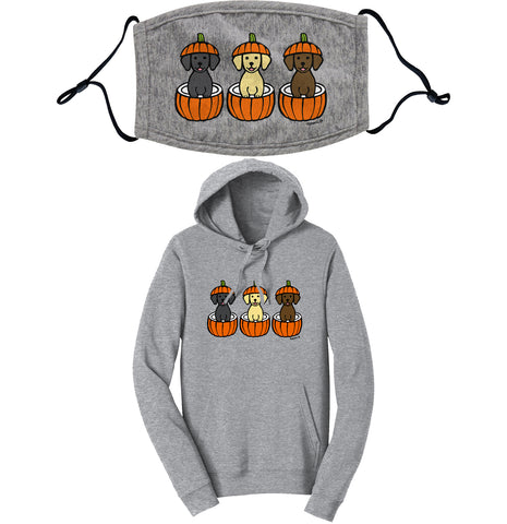 Pumpkin Lab Pups - Hoodie/Mask COMBO PACK