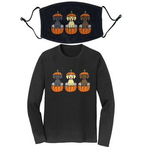 Pumpkin Lab Pups - Long Sleeve Shirt/Mask COMBO PACK