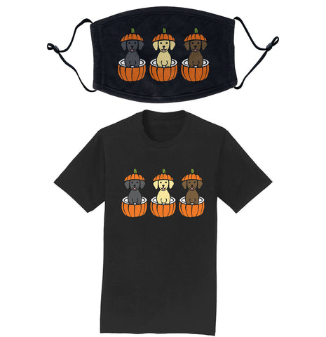 Pumpkin Lab Pups - T-Shirt/Mask COMBO PACK