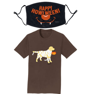 Yellow Lab Mummy - T-Shirt/Mask COMBO PACK