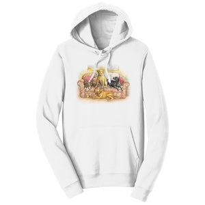 Four Labs on the Couch - Adult Unisex Hoodie Sweatshirt