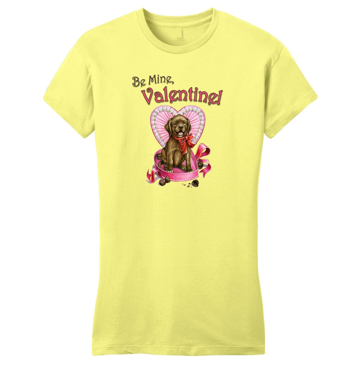 Valentine's Day Puppy - Women's Fitted T-Shirt